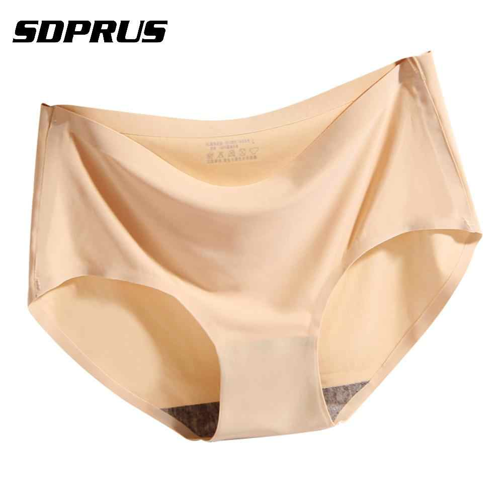 1 Pc Ice Silk Breathable ชุดชั้นใน Panty Seamless Cozy ชุดชั้นในกางเกง Breathable soft เซ็กซี่กางเกงสั้น S/M/ l/XL/XXL