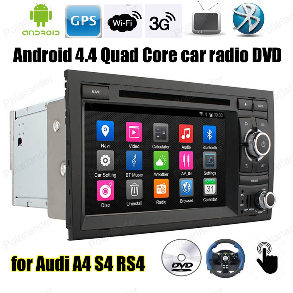 Quad Core Android4 4 car radio 7 inch DVD player Support font b TPMS b font