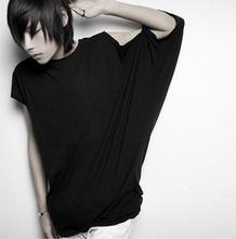 Personality Non Mainstream Male Tee T Shirt Man Fashion Bat Boy Short Sleeve Loose T shirt