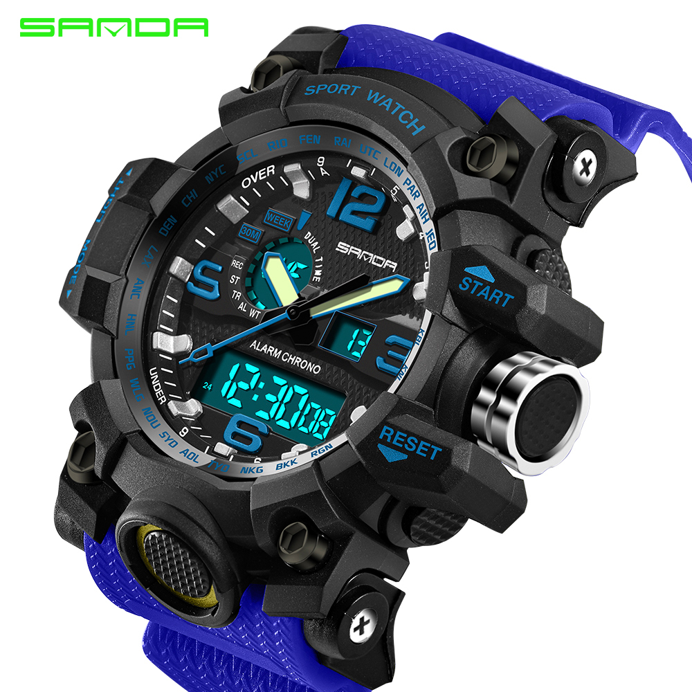 2017 G Military Sport Shock Watch Men Top Brand Luxury Electronic LED Digital Wrist Watch Male Clock For Man Relogio Masculino 2017 new colorful boys girls students time electronic digital wrist sport watch drop shipping 0307