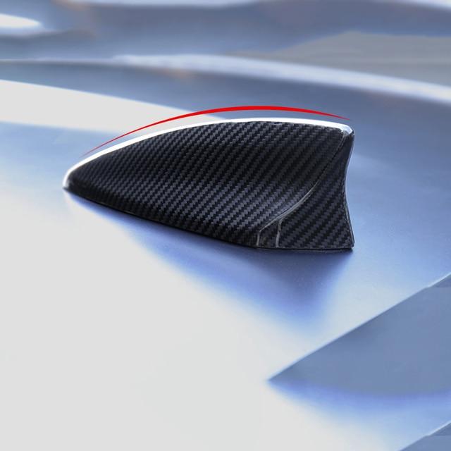 QHCP Car Antenna Shark Fin Antenna Cover Carbon Fiber Radio Car Styling Exterior Decoration For Chevrolet Camaro 2016+