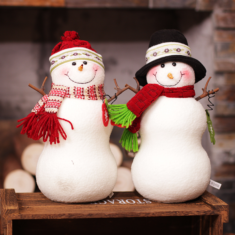 HziriP New Lovely Dolls Standing Kids Toys Christmas Decorations Model Red and Blue Hat Ornaments Children Christmas Gifts Toy