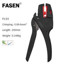 FS-D3 Wire Stripper and Cutter Self-Adjusting insulation StripperTool Electrician Stripping Pliers Multi-purpose Universal