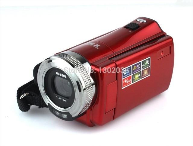 buy red portable high definition digital video camera camcorder 16 mega pixel. Black Bedroom Furniture Sets. Home Design Ideas