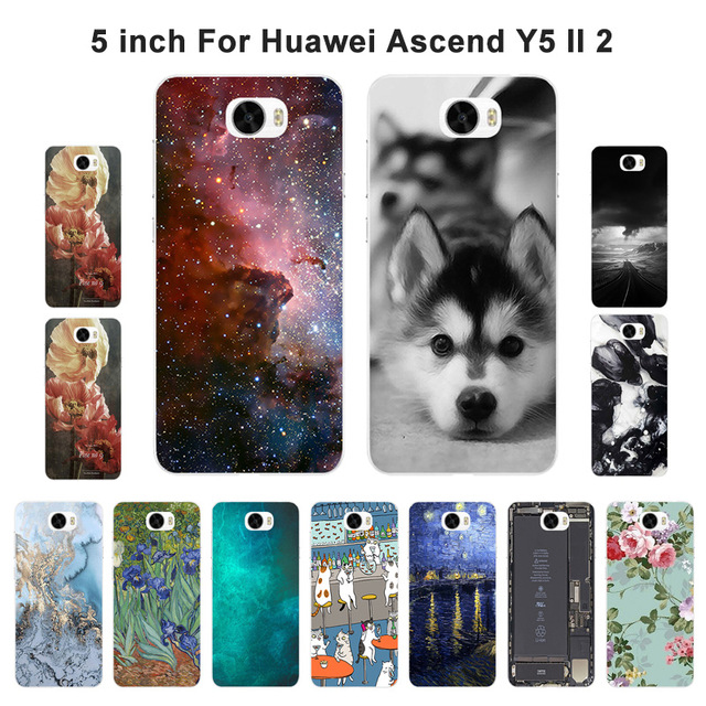 ТПУ чехлы Телефон для huawei Y5 II Y5ii <font><b>Y52</b></font> чехол для huawei Y5 Ii Y5II пейзажи рисовал кремния для LYO-L21 CUN-U29