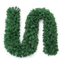 270*25 سنتيمتر شجرة اصطناعية نباتات الكرمة الصنوبر إبرة غارلاند ورقة خضراء كبيرة إكليل الباب جدار زخرفة قلادة الشنق