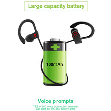 Bluetooth Earphone Sport Wireless Bluetooth Headphone Bass Blutooth Earpiece Stereo IPX4 Sweatproof with mic for phone