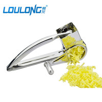 High Quality Metal Garlic Press Stainless Steel Stainless Steel Kitchen Tool Thickening Daosuan Device With Handle