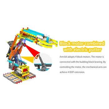 Kit De Construcción De Robot   MODIKER 2019 Nuevo Para Micro: Bit Bloques De Construcción Programable DIY Kit De Brazo Robótico Inteligente Juguetes De Alta Tecnología Regalo