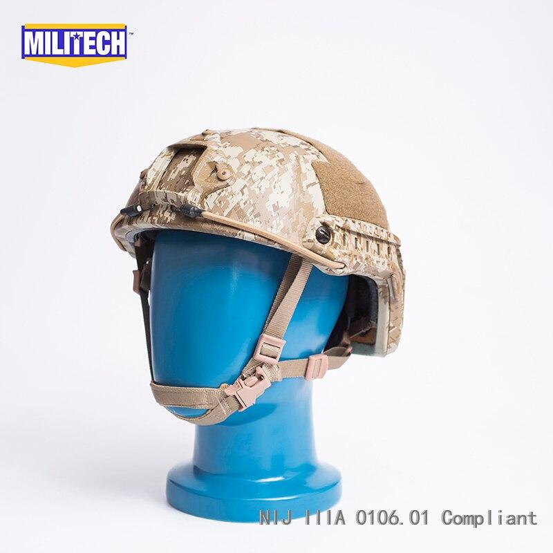 ISO Certified MILITECH AOR1 DELUXE Dial NIJ Level IIIA 3A FAST High Cut Bulletproof Kevlar Ballistic Helmet With 5 YRS Warranty militech black occ dial nij level iiia 3a fast high cut ballistic bulletproof tactical helmet with 5 years warranty devgru seal