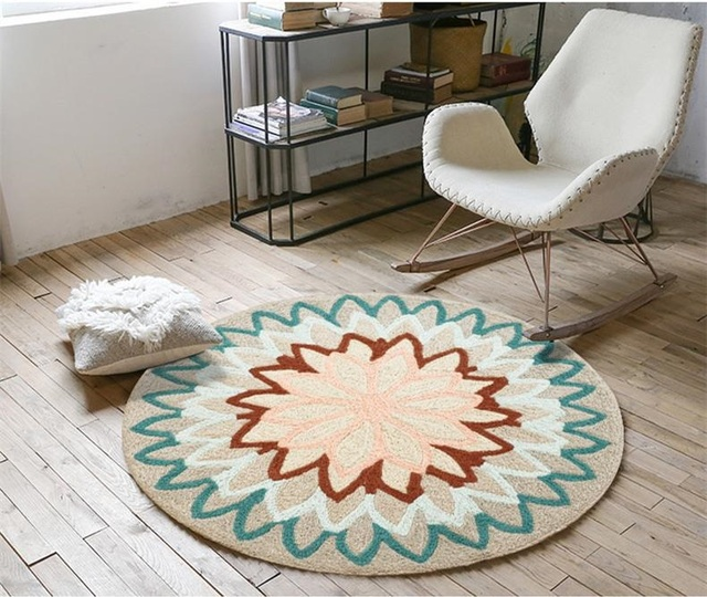 Luxury Mandala Round Rugs And Carpets Living Room Geometric Floor