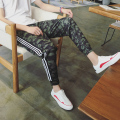 New 2017 spring summer men camouflage fashion leisure printing pants ninth pants cool army CK1