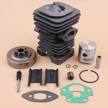 39MM Cylinder Head Oil Pump Piston .325 Clutch Drum Bearing Kit Fits Husqvarna 236 240 235 Chainsaw Replacement Motor Parts