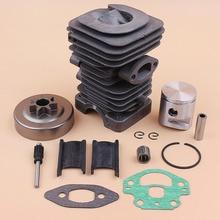 купить 39MM Cylinder Head Oil Pump Piston .325 Clutch Drum Bearing Kit Fits Husqvarna 236 240 235 Chainsaw Replacement Motor Parts дешево