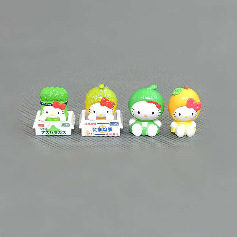 Image 4 - 100pcs/lot 1.5 2.5cm Mini Hello Kitty Action Figures Plastic PVC Christmas Toy Kids Home Cake Decor Collectible Toys S4272Action & Toy Figures   -