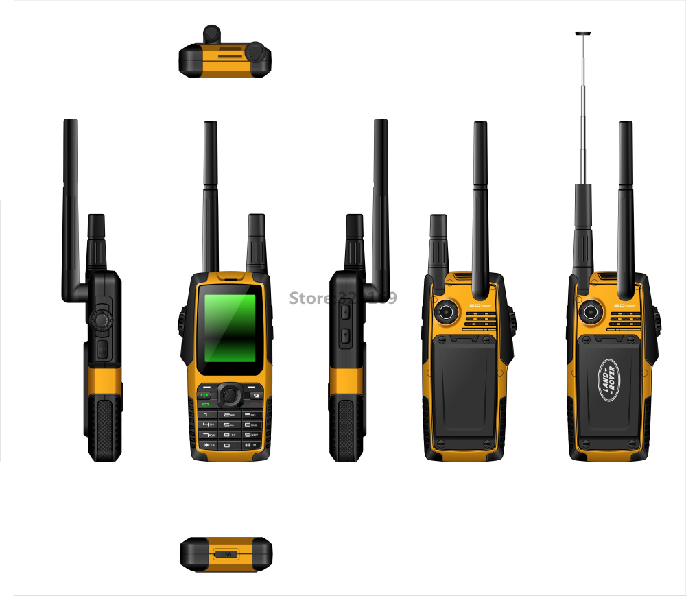 original rugged Waterproof mobile phone Quad Band 2SIM Card GPS GSM FM Radio walkie talkie PTT Runbo russian Keypad GK3537 - KT Technology store