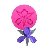 New Beautiful Orchid Flower Sharp 3D Silicone Cake Fondant Mould Tools Cookware Cake Decorating Fondant Birthday Decoration