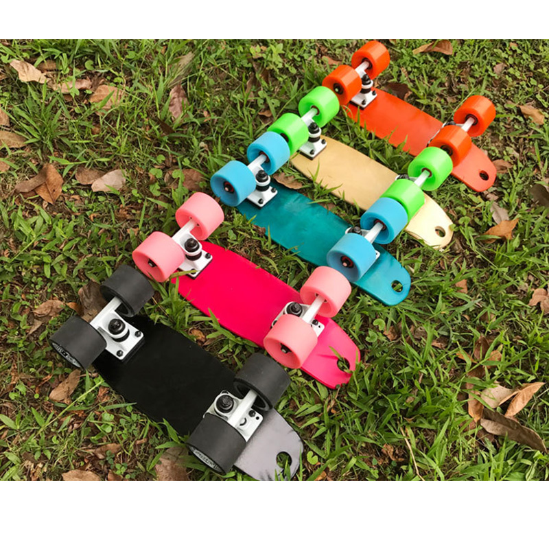 Mini 17inch Fish Skateboard Maple Professional Skateboard Longboard Skate board Complete for Girls Boys enjoi complete skateboard impact plus best in show barletta dog 8 0