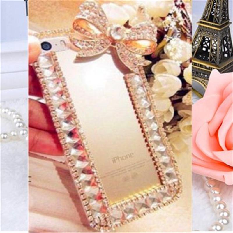Handmade Bling Glitter Rhinestone Clear Hard Phone Case For LG K10 (2018) Cover Case - intl