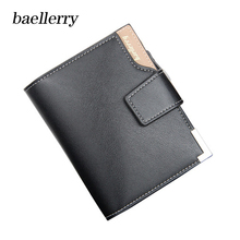 Baellerry Brand Top Wallet men PU Leather Wallets Purse Short Male Clutch Wallet Mens Money Bag Card Holder Quality Guarantee new design dollar price top male wallet purse pu leather vintage design purse men brand famous card holder mens wallet k030
