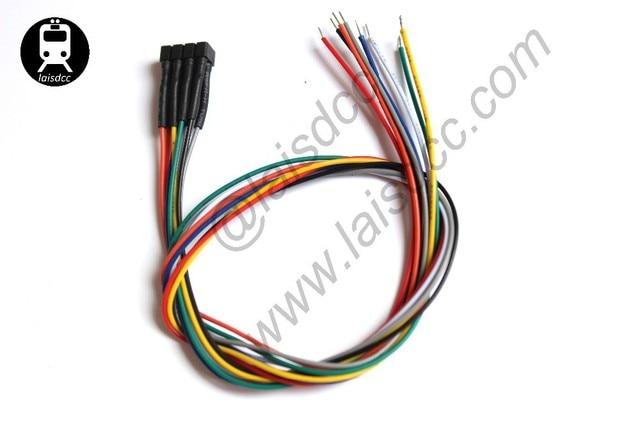 10PCS DCC NEM 652 TRAILING WIRED HARNESSES WITH DCC COLOR 860003/LaisDcc Brand