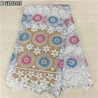 Good Looking Nigerian Lace Fabric 2016 Latest African Laces Cheap Price Guipure Lace Fabric For Wedding