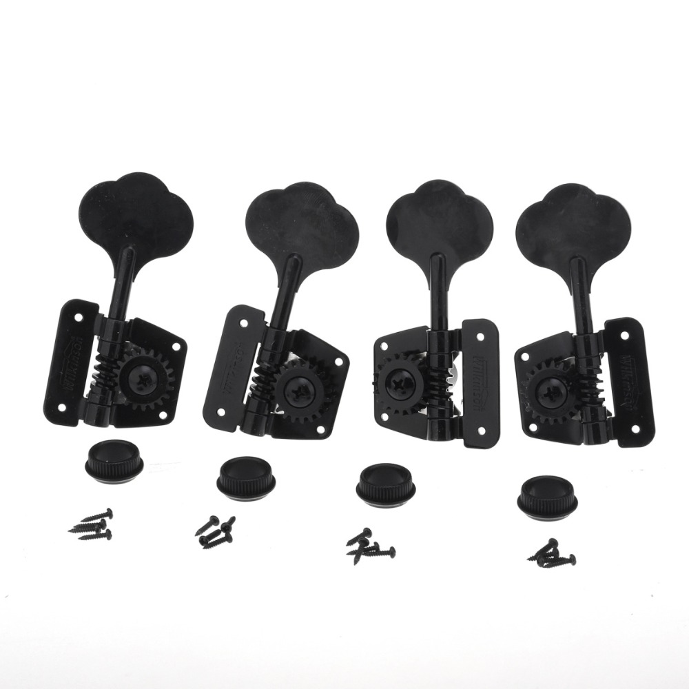 Musiclily Wilkinson Genuine 4 in Line/2R2L Bass Tuners Open Gear Machine Heads Tuning Pegs Set for FD Percison Jazz Bass Parts kaish set of 4 left handed sealed bass tuners tuning keys pegs 4 string bass machine heads 2 colors
