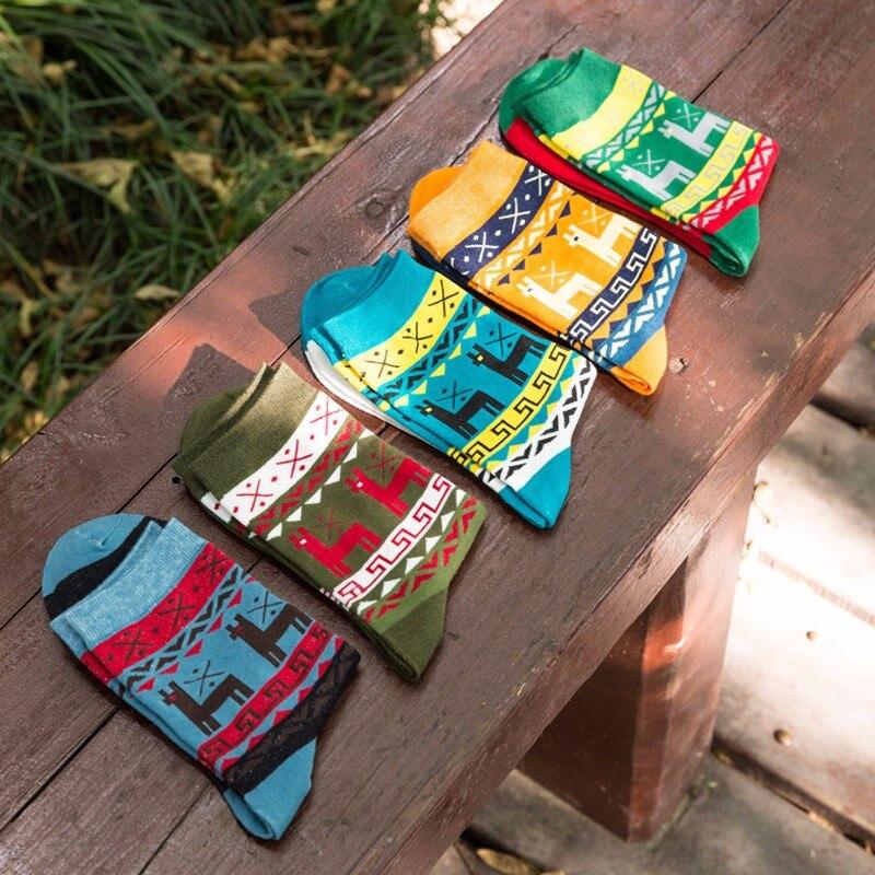 Men's Bright Funny Colorful Casual Cotton   Socks   Diamond Stripe Crazy Dress Party   Socks   New Year Gift Fashion Casual   Socks