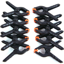 10/5pcs 2inch Spring Clamps Plastic Nylon Clamps For Woodworking Spring Clip Photo Studio Background DIY Woodworking Tools цены онлайн
