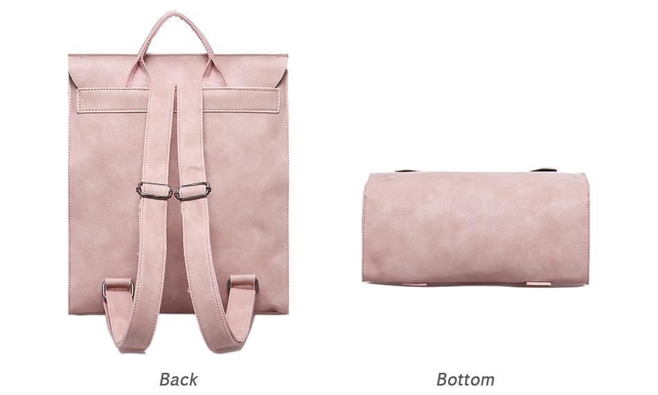 High Quality Women Backpack Leather Bags New Arrival 17 Backpacks For Teenage Girls Fashion Bag Woman Back Pack Bolsa Mochila 13