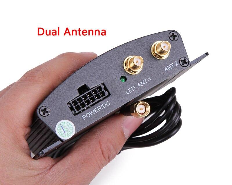 imágenes para Hotaudio de Alta Velocidad HD Sintonizador de TV Móvil Del Coche DVB-T T2 Caja Del Receptor de TV Digital MPEG-4 Dual Antenas para Rusia Europea
