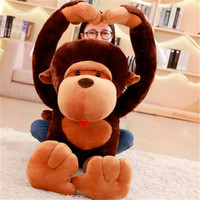 1PC cartoon 80cm long arm orangutan plush toy plush soft billed monkey diamond doll children's birthday gift Christmas gift