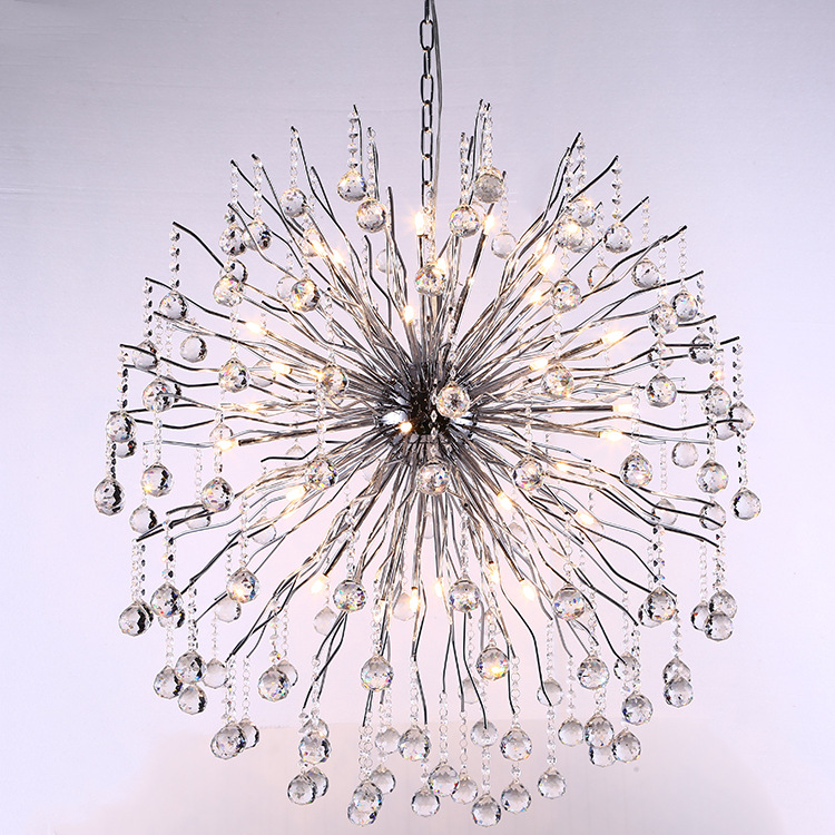 Top Sale Modern Crystal Lamp Chandelier 110-240V lustres de cristal for living room Dia90*H100cm indoor lighting