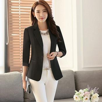 Professional Blazer Women Set Suit Casual Sky Blue Cardigan Blazers Fashion Female Suit Jacket Blaser Mujer Coat Women 50N0939 Классический костюм