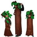 Adultos y Niños de Halloween Trajes Del Partido Verde de Árboles Ropa Cosplay Del Partido Traje de La Familia