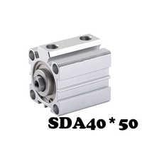 Free shipping SDA40*50 Standard cylinder thin cylinder SDA Type Aluminum Alloy Pneumatic Valve Thin Air Cylinder