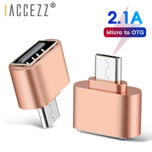 цена на !ACCEZZ 5pcs/lot Mini Micro USB OTG Adapter to USB 2.0 Female Connector For Samsung Xiaomi HTC LG Tablet PC to Flash Drive Mouse