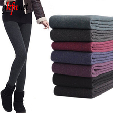 2017 New Leggings Women Autumn And Winter Girls Warm Winter Bright Velvet Knitted Thick Legging Super Elastic Pants Good Quality