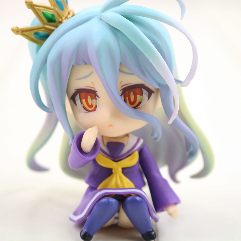 10cm Anime No Game No Life Shiro Nendoroid Shiro 653# Figure Game of Life Painted Scale PVC Action Figure Cute Dolls Toys Gifts