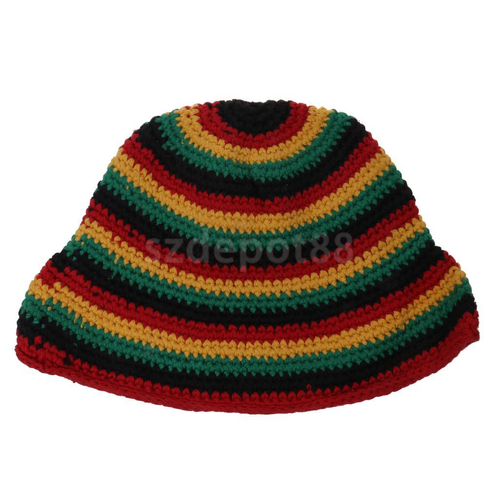 De punto Sombreros de Reggae Rasta Jamaica Beret Crochet Slouchy ...