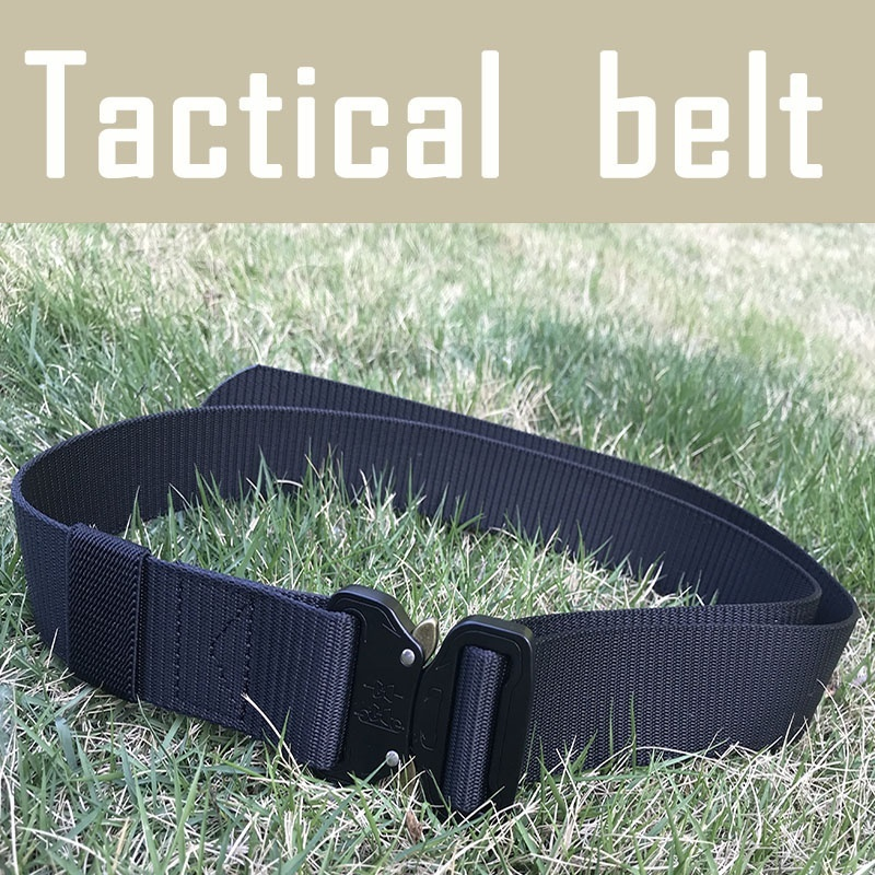 Tactical Army Military Combat Knock Off Emergency Survival Waist Straps Heavy Duty Belt  Support Quick Release Belt Equipments