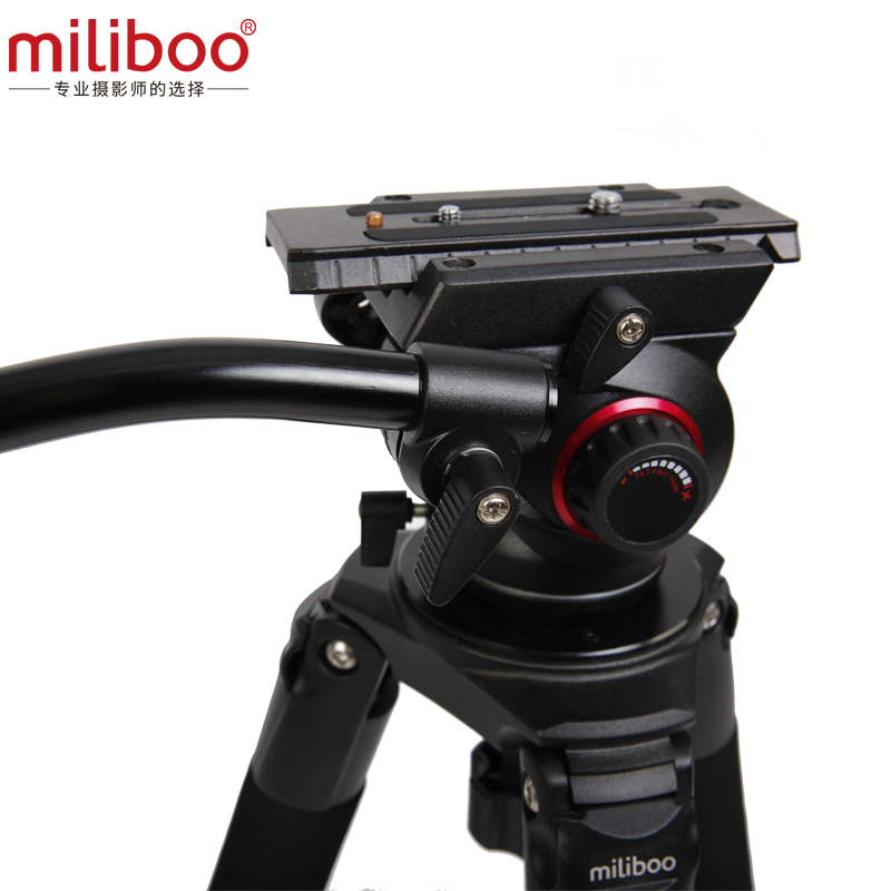 miliboo MTT702B Portable Carbon Fiber Tripod for Professional Camcorder/Video Camera/DSLR Tripod Stand,with Hydraulic Ball Head-in Tripods from Consumer Electronics    2