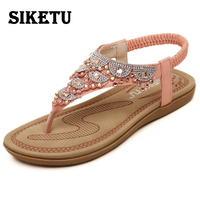 SIKETU 2017 Summer New Women S Sandals Ankle Strap Pink White Party Shoes Beach Sandals Bohemia
