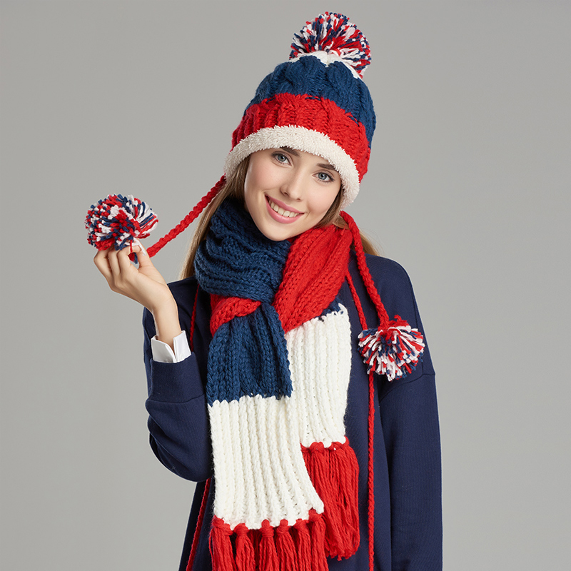 5bf3303226b09c Pure Hand Woven Knitted Women Hat Scarf Glove Sets Fashion Casual Warm  Winter Hats Scarves Gloves Three-Piece Set 1803