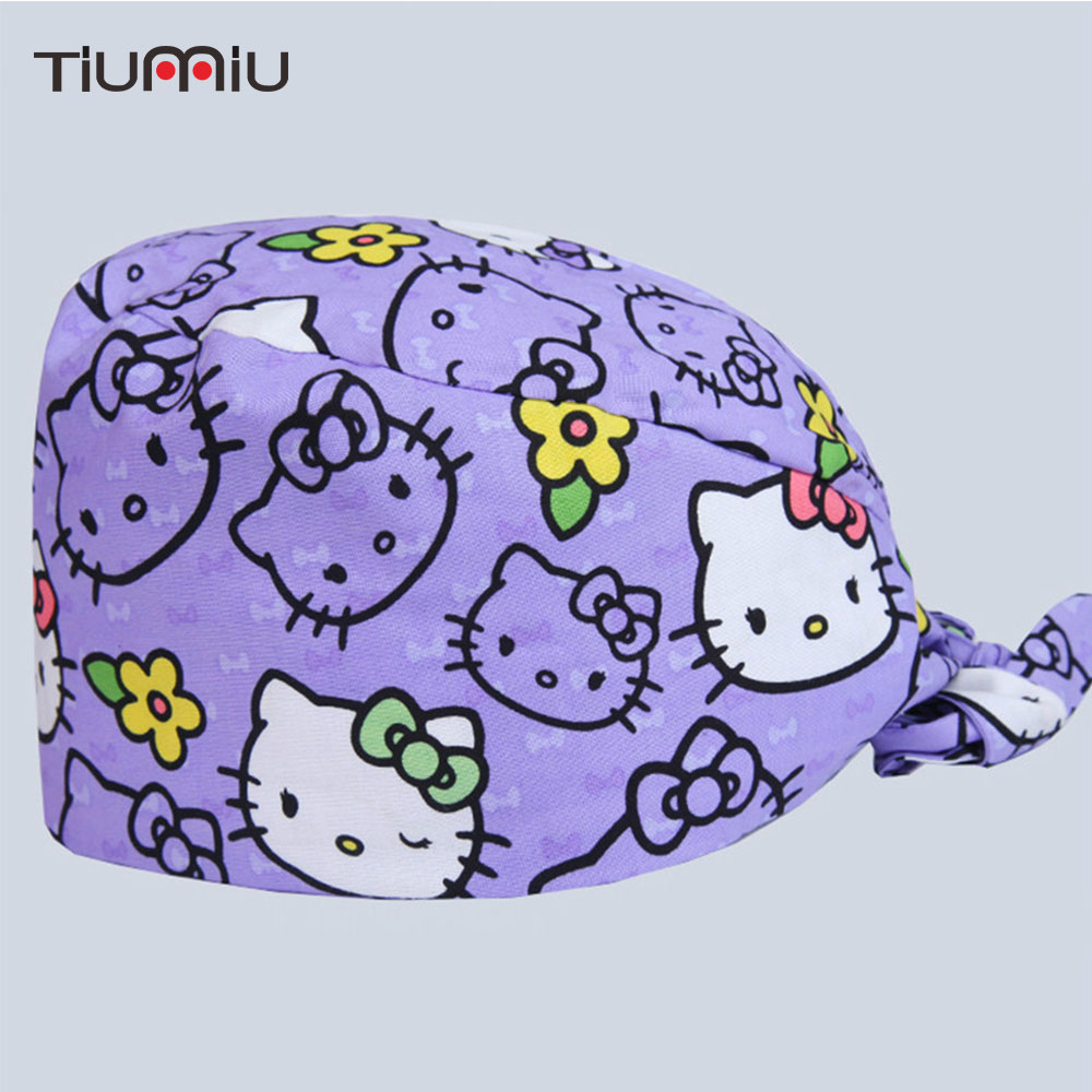 Work Wear & Uniforms Learned Surgical Cap New Operating Room Hat Cotton Cute Cat Printing Doctor Nurse Hospital Beauty Salon Dental Work Medical Caps Novelty & Special Use