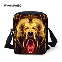 WHOSEPET Cool Lion Printing Cross Body Messenger Bags Women Girls Hobo Satchel Tote Leisure Female Sling Shoulder Bag Animals