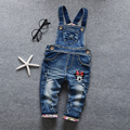 2017 new 0-3 years girl bow overalls cartoon baby bib pants child denim trousers infant girl spring and autumn rompers jumpsuits