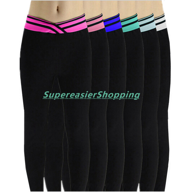 Sexy Elastic Stripe V Waist Women Leggings Casual Female Sweatpants Full Length Spring Summer Autumn Lady Workout Pencil Pants