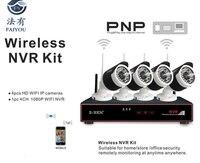 Zb wk204 1.0mp 2.4 г 4ch Наборы безопасности Камера Системы комплект Беспроводной наблюдения IP Камера S с 1080 P WI FI NVR для домашнего Offi