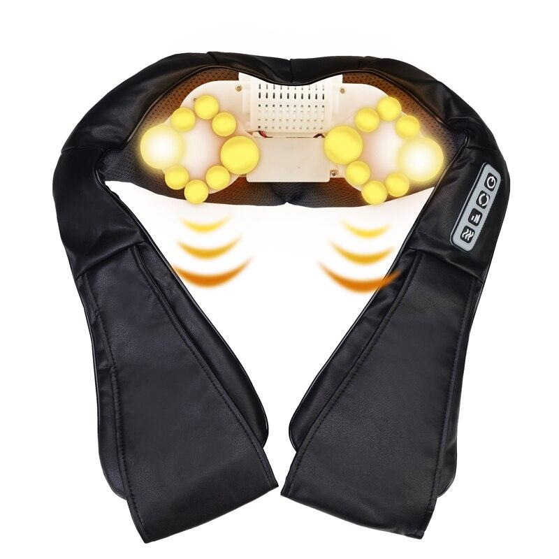 Image 2 - Heat Deep Kneading Infrared Massager U Shape Electrical Shiatsu Massage Back Neck Shoulder Body at Car/Home Infrared Massagem-in Massage & Relaxation from Beauty & Health